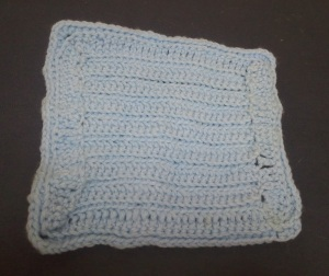 "I Learned the Basic Stitches Making This ""Washcloth"""